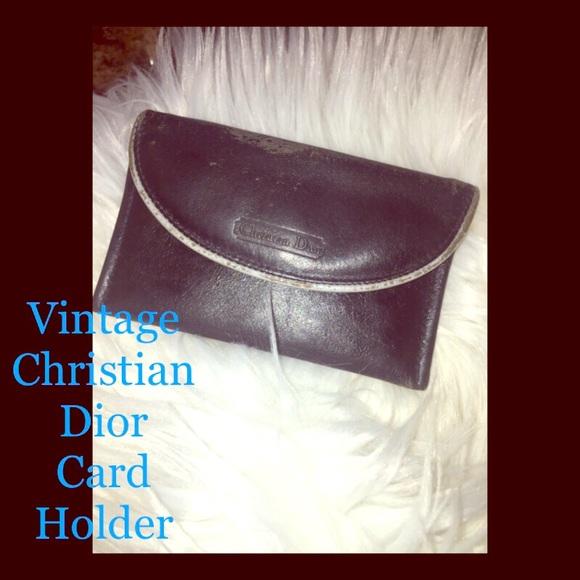 Dior Handbags - Vintage Christian Dior Card Holder 🖤